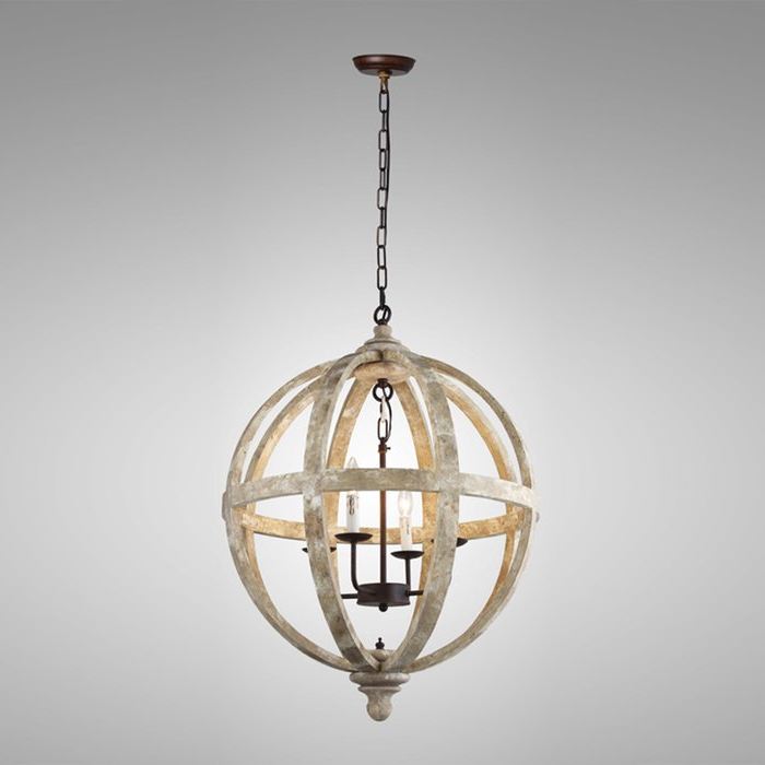 Cavanagh 4 Light Geometric Chandeliers With Most Current Ryne 4 Light Globe Chandelier (View 25 of 30)