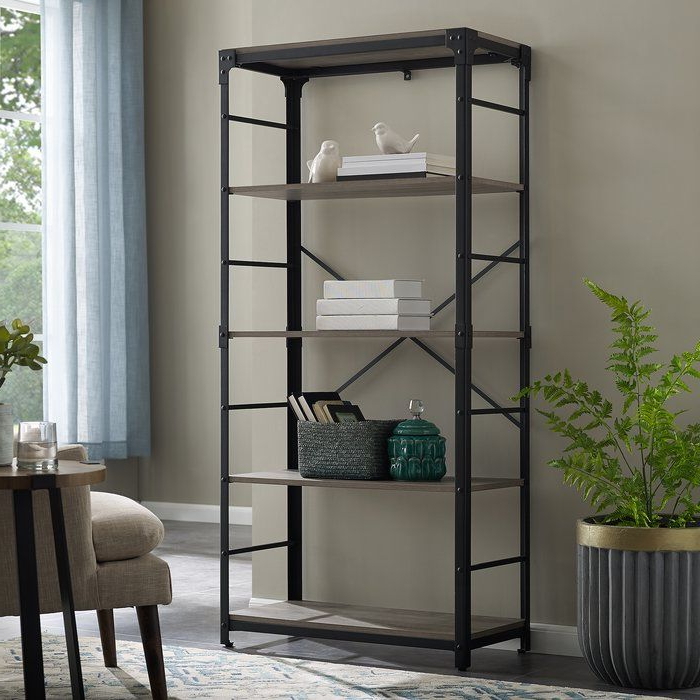Cecelia Etagere Bookcase (Gallery 14 of 20)