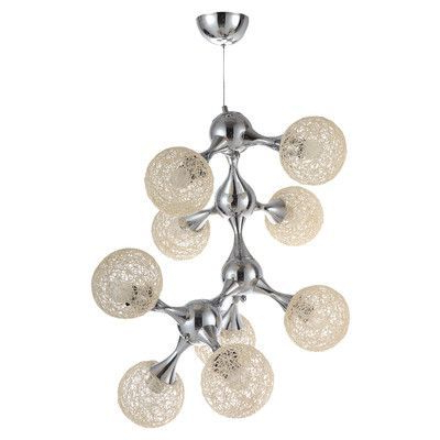 Ceets Atom 9 Light Sputnik Chandelier Shade Color: Cream Pertaining To Preferred Bacchus 12 Light Sputnik Chandeliers (Gallery 14 of 30)