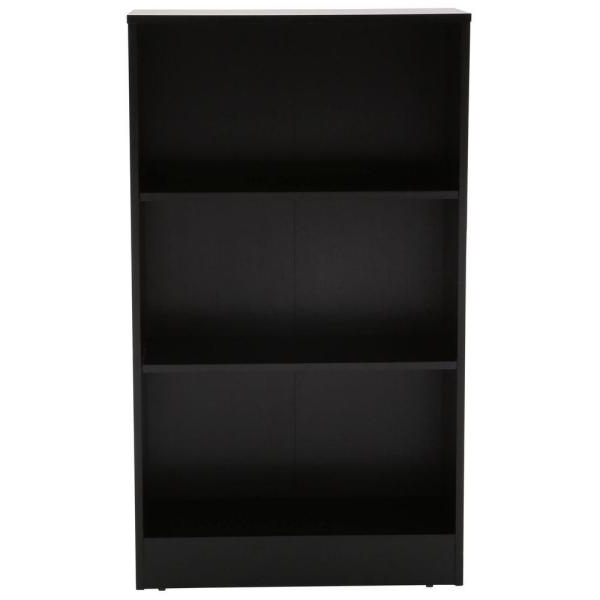 Cerrato Standard Bookcases With Recent Black 3 Shelf Bookcase (View 18 of 20)