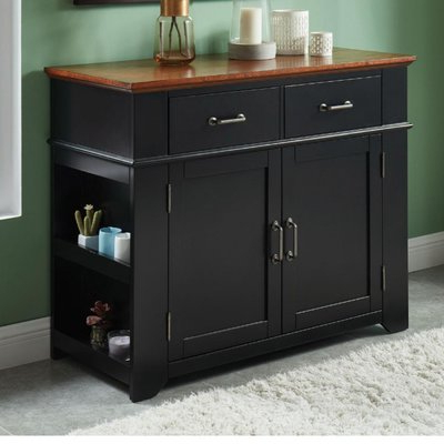 Chaffins Sideboards Within Latest Charlton Home Lebow Two Tone Wooden Server Color: Black (View 14 of 20)