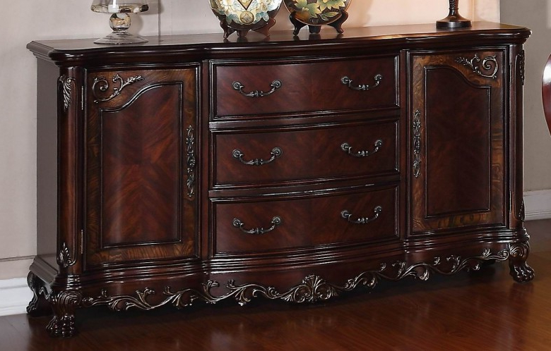 Chalus Sideboards Within Favorite Deryn Park Cherry Buffet/server (View 8 of 20)
