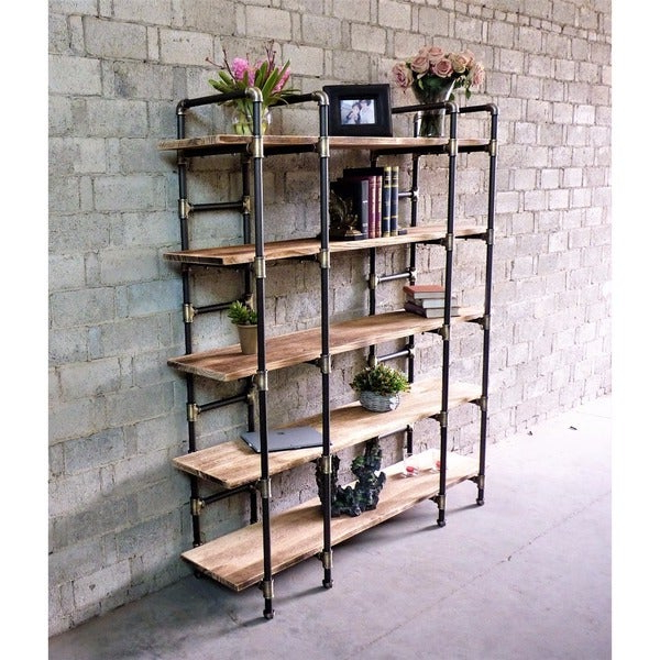 Champney Modern Etagere Bookcases Throughout Most Up To Date Shop Manhattan Modern Industrial Etagere Bookcase – Free (View 10 of 20)