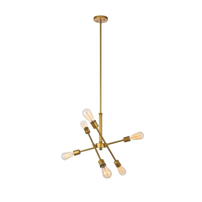 Chandeliers Regarding 2019 Johanne 6 Light Sputnik Chandeliers (Gallery 6 of 30)
