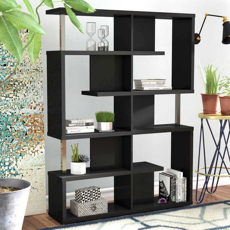 Chantilly Geometric Bookcase In Latest Chantilly Geometric Bookcases (View 5 of 20)
