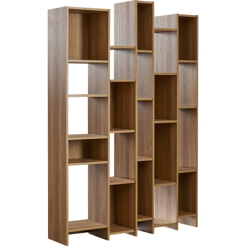 Chantilly Geometric Bookcases With Regard To Fashionable Viper Geometric Bookcase (View 14 of 20)