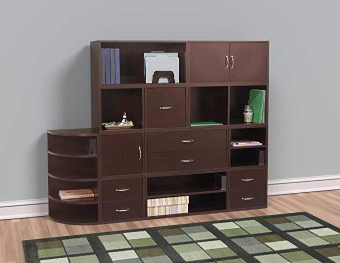 Chastain Storage Cube Unit Bookcases Pertaining To 2020 Foremost 327609 Modular Open Cube For Modular Storage System, Vinyl  Storage, Bookcase, Espresso (Gallery 14 of 20)