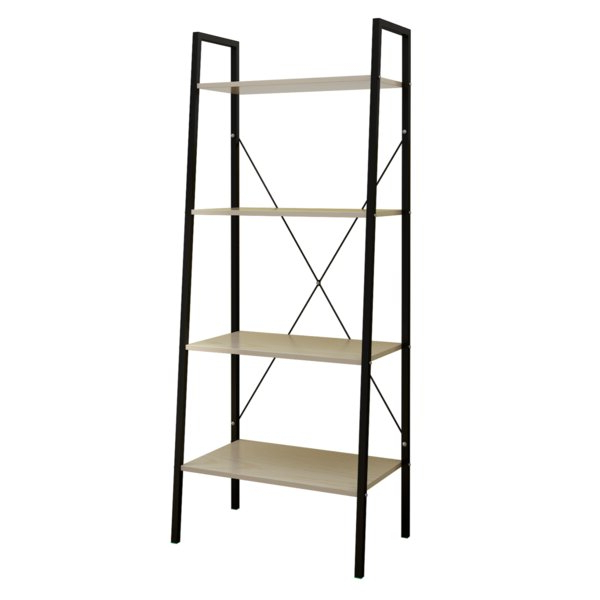 Chenery Wood And Metal Etagere Bookcasegracie Oaks Intended For Famous Thea Blondelle Library Bookcases (View 17 of 20)