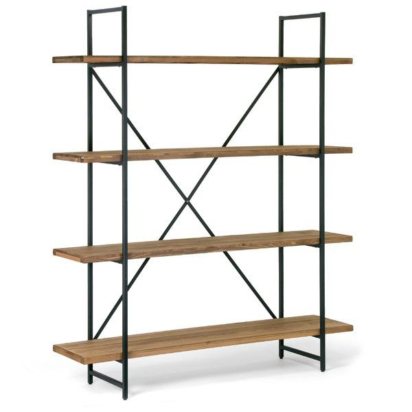 Cifuentes Dual Etagere Bookcases Inside Widely Used Champney Modern Etagere Bookcase (View 4 of 20)