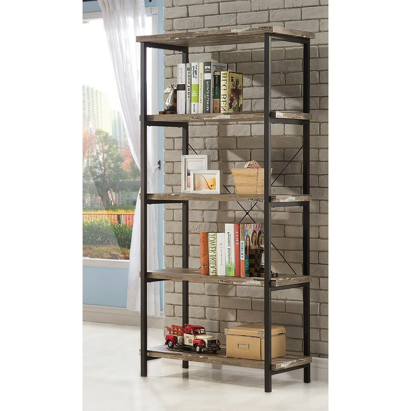 Cifuentes Single Etagere Bookcase Inside Trendy Cifuentes Dual Etagere Bookcases (Gallery 5 of 20)
