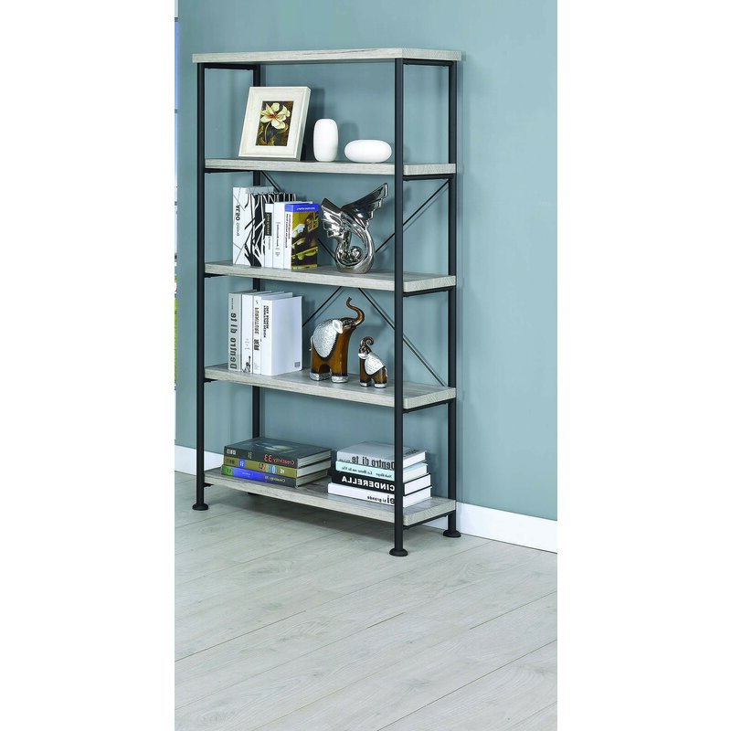 Cifuentes Single Etagere Bookcase Regarding Fashionable Cifuentes Dual Etagere Bookcases (Gallery 8 of 20)