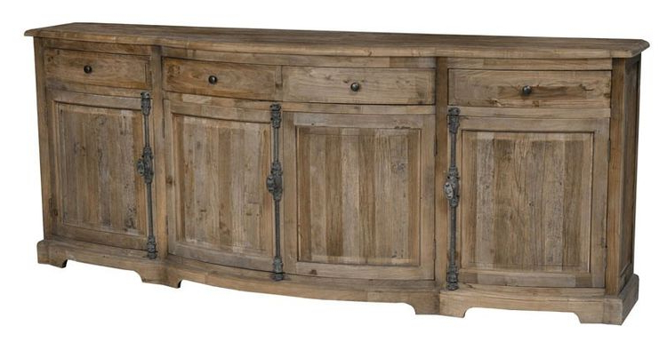 Classic Home Furniture – Balthazar 4 Drawer 4 Door Sideboa Throughout 2019 Steinhatchee Reclaimed Pine 4 Door Sideboards (View 3 of 20)