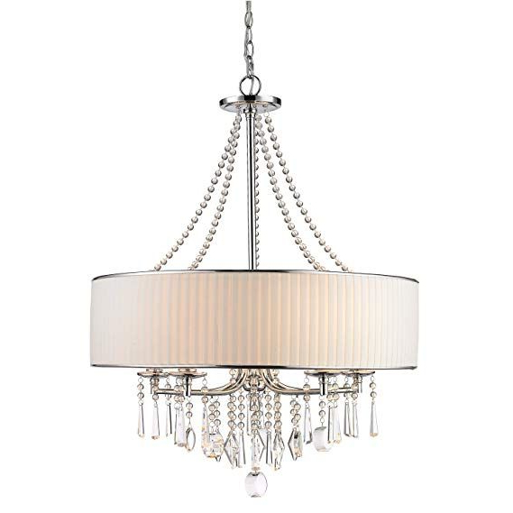 Claxy Ecopower Lighting Crystal & Metal Drum Pendant Throughout Recent Abel 5 Light Drum Chandeliers (View 10 of 30)