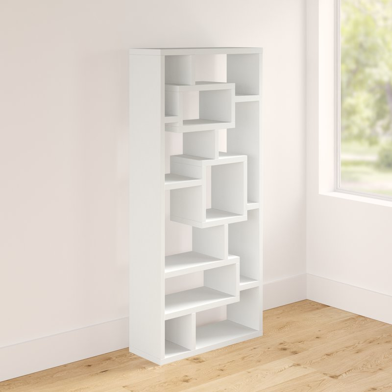 Cleisthenes Geometric Bookcase Intended For Newest Bostic Geometric Bookcases (Gallery 14 of 20)