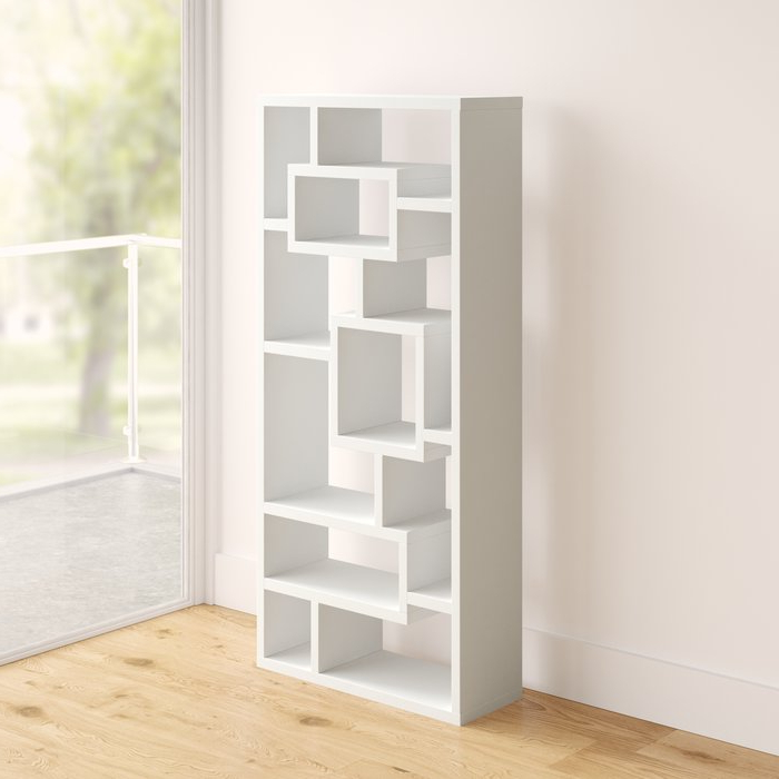 Cleisthenes Geometric Bookcase Throughout 2019 Cleisthenes Geometric Bookcases (View 7 of 20)
