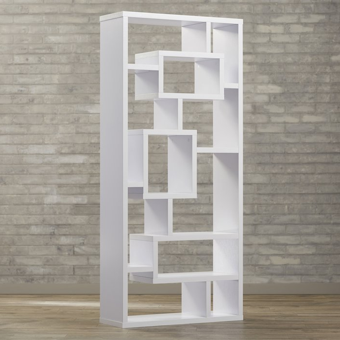 Cleisthenes Geometric Bookcase With Popular Bostic Geometric Bookcases (Gallery 17 of 20)