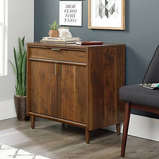 Clifton Sideboards For Recent Sauder Clifton Place Walnut Effect Sideboard (Gallery 17 of 20)