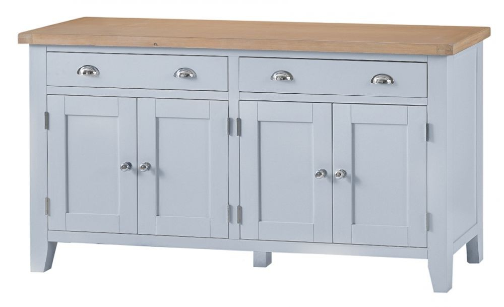 Clifton Sideboards Inside Well Liked Taunton Grey 4 Door Sideboard – Sideboards & Tops – Dining (Gallery 18 of 20)