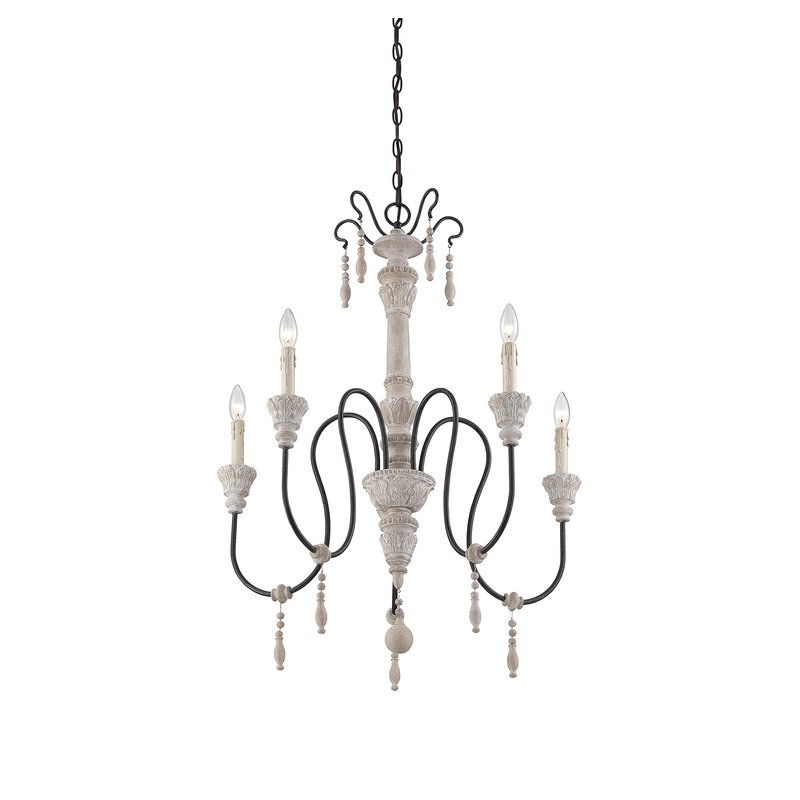 Corneau 5 Light Chandelier Pertaining To Well Known Armande Candle Style Chandeliers (View 18 of 30)