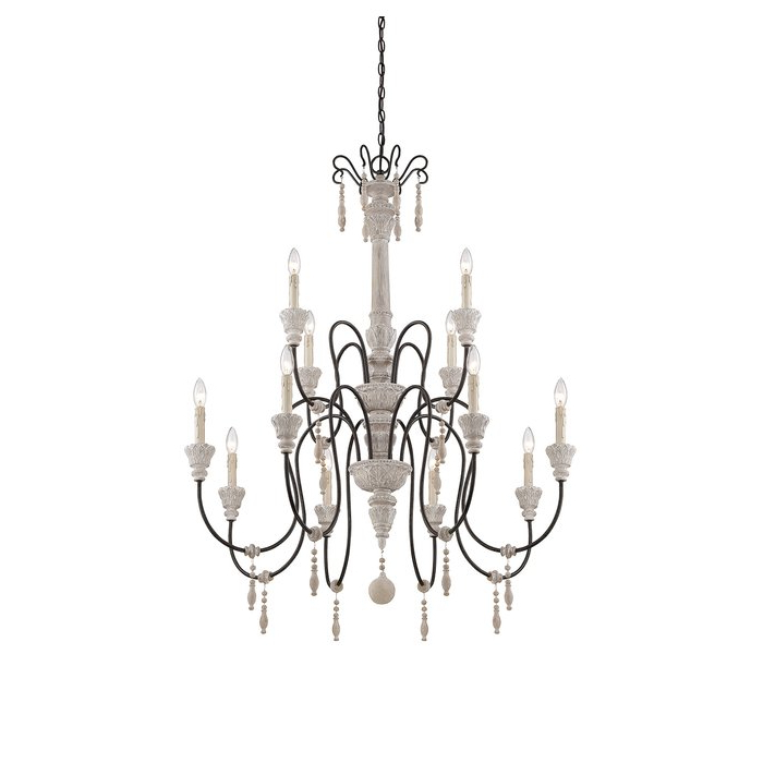 Corneau 5 Light Chandeliers In Best And Newest Corneau 12 Light Chandelier (View 4 of 30)