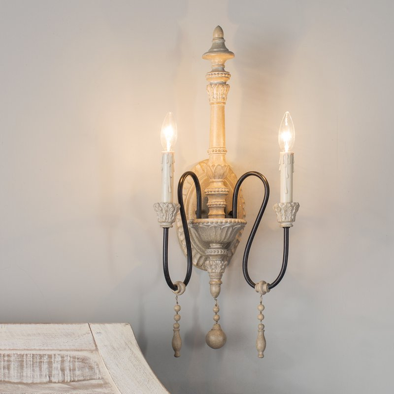 Corneau 5 Light Chandeliers Regarding Preferred Corneau 2 Light Candle Wall Light (View 9 of 30)