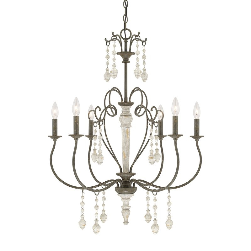 Corneau 5 Light Chandeliers Regarding Well Liked Bouchette Traditional 6 Light Chandelier (View 20 of 30)
