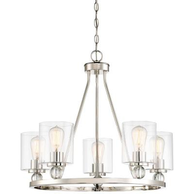 Corneau 5 Light Chandeliers Throughout Recent Candle Style – Chandeliers – Lighting – The Home Depot (View 23 of 30)