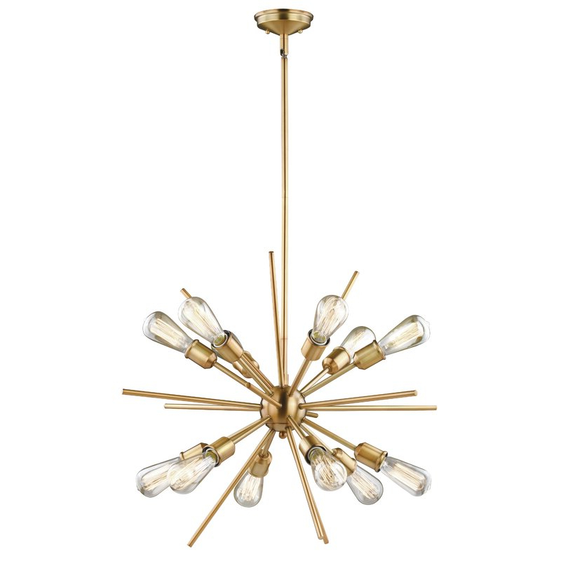 Corona 12 Light Sputnik Chandelier For Trendy Corona 12 Light Sputnik Chandeliers (Gallery 1 of 30)