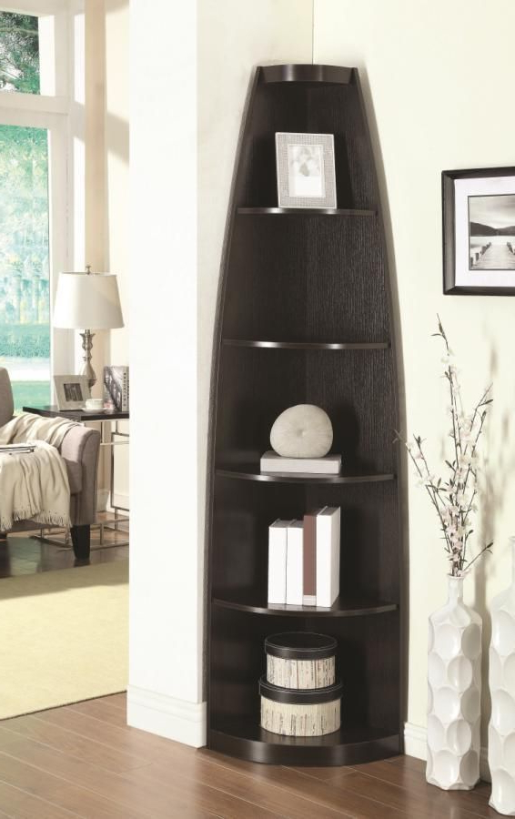 Courtdale Corner Bookcases With Most Recently Released Coaster Corner Bookcase – 801181 Las Vegas Furniture Online (View 11 of 20)