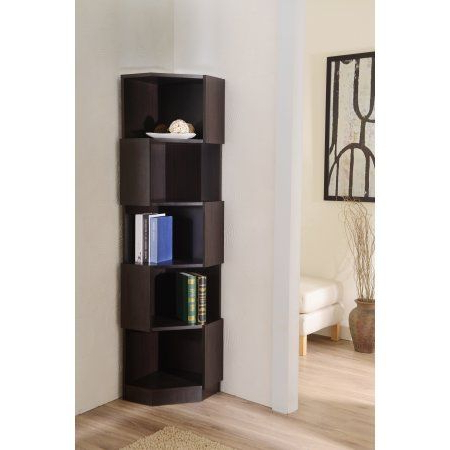 Courtdale Corner Bookcases With Regard To Best And Newest Furniture Of America Rino Contemporary Corner Bookcase (View 4 of 20)