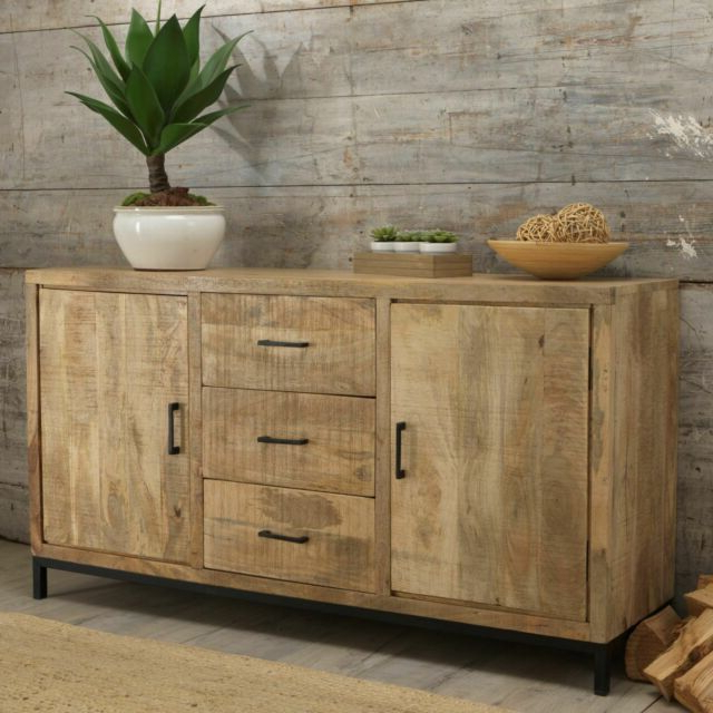 Cove Reclaimed Wood Dining Living Room Furniture Large Sideboard Regarding Popular Clifton Sideboards (View 11 of 20)