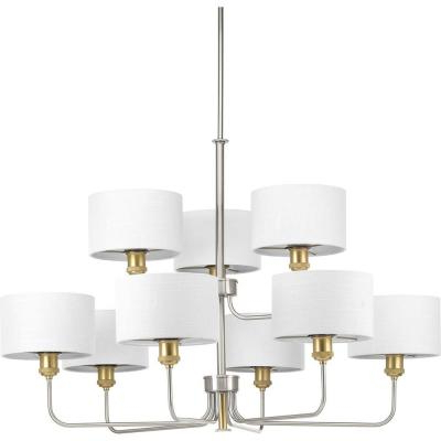 Crofoot 5 Light Shaded Chandeliers With Favorite Progress Lighting Inspire Collection 5 Light Brushed Nickel (View 21 of 30)