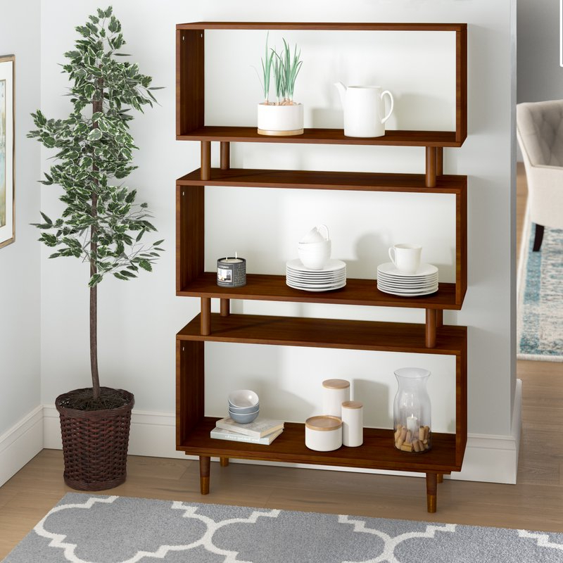 Crowley Standard Bookcase Within Newest Ignacio Standard Bookcases (View 4 of 20)