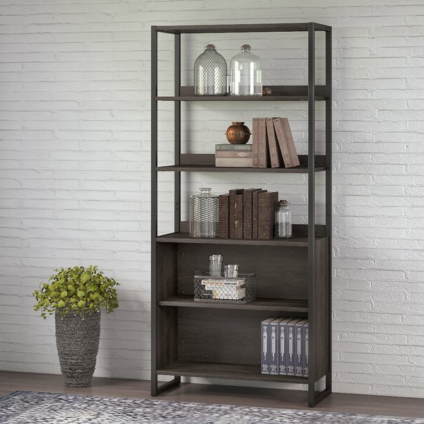 Cullison Standard Bookcases For Popular Atria 5 Shelf Standard Bookcasekathy Ireland Office (View 17 of 20)