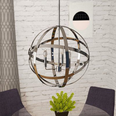 Curcio 3 Light Globe Chandelier In  (View 6 of 30)