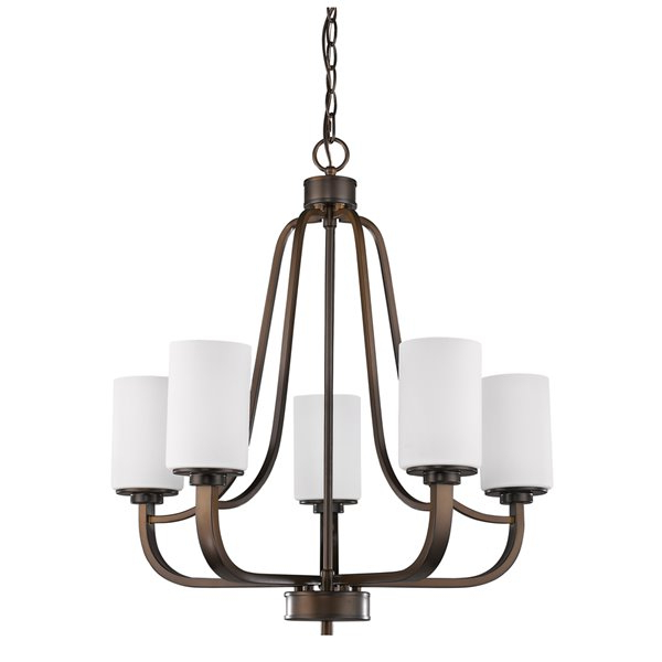 Current Acclaim Lighting – Addison 5 Light 26 In Bronze Chandelier With Millbrook 5 Light Shaded Chandeliers (View 7 of 30)