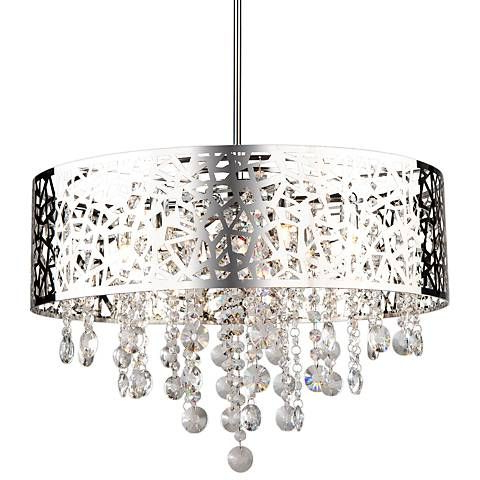 "Current Aldgate 4 Light Crystal Chandeliers Regarding Artcraft Celestial 20"" Wide Chrome Pendant Light (Gallery 26 of 30)"