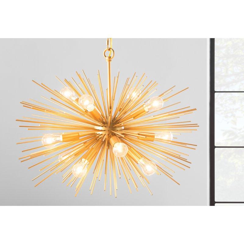 Current Asher 12 Light Sputnik Chandeliers In Nelly 12 Light Sputnik Chandelier (View 11 of 30)