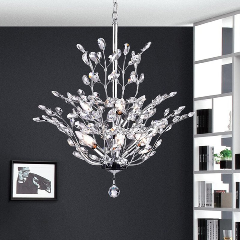 Current Brookleigh Leaf 9 Light Candle Style Chandelier Throughout Hesse 5 Light Candle Style Chandeliers (Gallery 18 of 30)