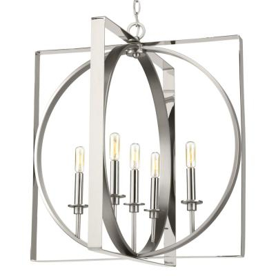 Current Corneau 5 Light Chandeliers Pertaining To Candle Style – Chandeliers – Lighting – The Home Depot (View 18 of 30)