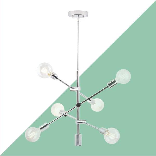 Current Eladia 6 Light Sputnik Chandeliers Within Eladia 6 Light Sputnik Chandelier (Gallery 4 of 30)
