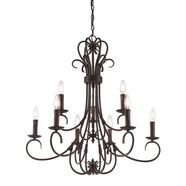 Current Gaines 5 Light Shaded Chandeliers For Gaines 9 Light Candle Style Chandelier (View 20 of 30)