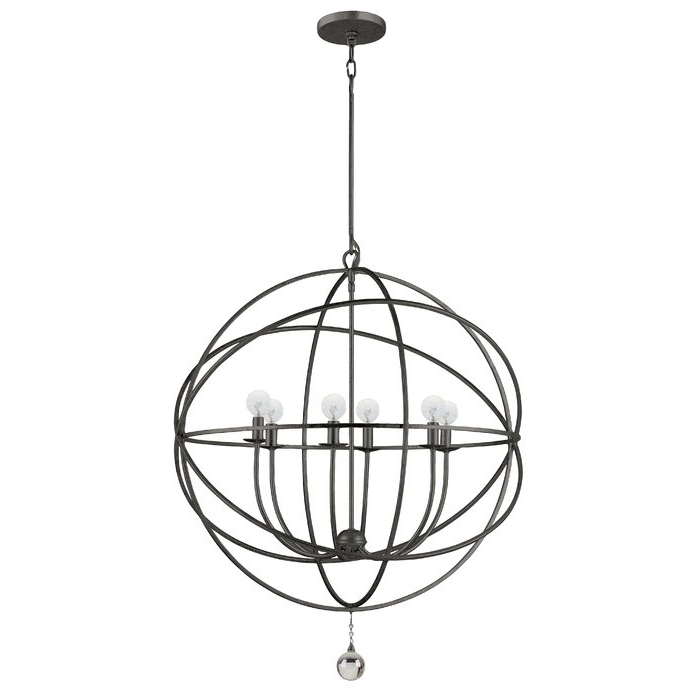 Current Gregoire 6 Light Globe Chandelier Throughout Gregoire 6 Light Globe Chandeliers (View 8 of 30)