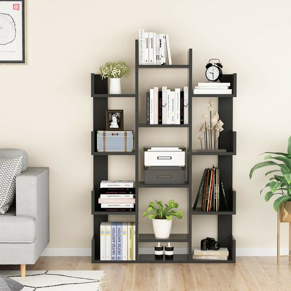 Current Havard 12 Shelf Geometric Bookcaseebern Designs Best #1 With Waverley Etagere Bookcases (Gallery 18 of 20)