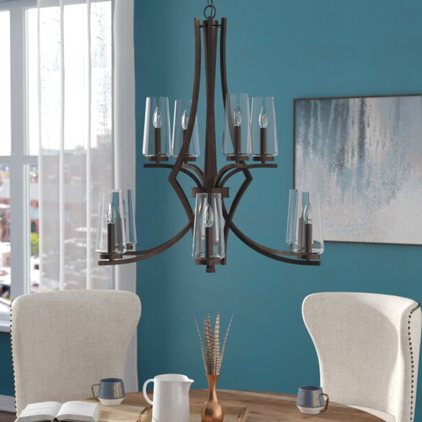 Current Ladonna 5 Light Novelty Chandeliers Throughout Mollie 10 Light Shaded Chandelier (View 5 of 30)