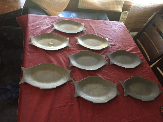 "Current Lot Of 8 Rare Pewter Plates Melco Cleveland Ohio 05 130 (12""X (View 18 of 20)"