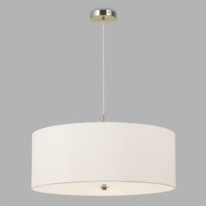 Current Montes 3 Light Drum Chandeliers Within Large White Fabric Drum 3 Light Billie Pendant Lampworld (Gallery 10 of 30)