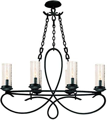 Current Quoizel Ckad5005pn Aldora With Palladian Bronze Finish With Regard To Aldora 4 Light Candle Style Chandeliers (View 23 of 30)