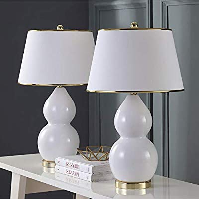 Current Safavieh Lighting Collection Jill White Double Gourd (View 17 of 30)