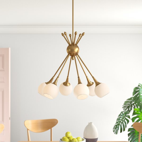 Current Silvia 6 Light Sputnik Chandeliers In Feingold 6 Light Sputnik Chandelier (View 8 of 30)